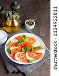 close up photo of caprese salad ... | Shutterstock . vector #1134922811