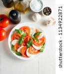 close up photo of caprese salad ... | Shutterstock . vector #1134922871
