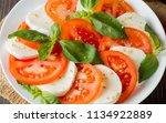 close up photo of caprese salad ... | Shutterstock . vector #1134922889