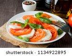 close up photo of caprese salad ... | Shutterstock . vector #1134922895