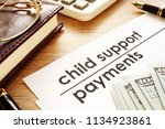 child support payments.... | Shutterstock . vector #1134923861
