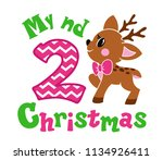 my second christmas. cute... | Shutterstock .eps vector #1134926411