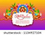 illustration of greeting card... | Shutterstock .eps vector #1134927104