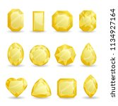 set of realistic yellow jewels. ... | Shutterstock .eps vector #1134927164
