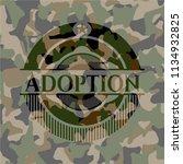 adoption written on a... | Shutterstock .eps vector #1134932825
