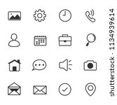 internet web icons  vector...   Shutterstock .eps vector #1134939614