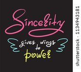 sincerity gives wings to power  ...   Shutterstock .eps vector #1134943181