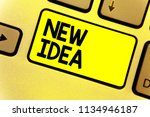 writing note showing new idea....   Shutterstock . vector #1134946187