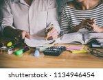 high school or college asian... | Shutterstock . vector #1134946454
