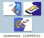 online super fast delivery ... | Shutterstock .eps vector #1134953111