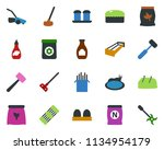 colored vector icon set  ... | Shutterstock .eps vector #1134954179