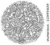 cartoon vector doodles... | Shutterstock .eps vector #1134954659
