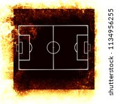 grunge soccer background with... | Shutterstock . vector #1134956255