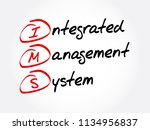 ims   integrated management... | Shutterstock .eps vector #1134956837