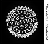 question chalk emblem | Shutterstock .eps vector #1134957467