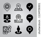 simple 9 icon set of location... | Shutterstock .eps vector #1134958301