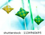 copyspace of malaysian food... | Shutterstock . vector #1134960695