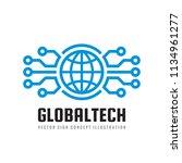 digital world   vector business ...   Shutterstock .eps vector #1134961277