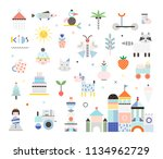 set of cute elements. different ... | Shutterstock .eps vector #1134962729