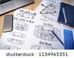 architectural blueprints  ... | Shutterstock . vector #1134965351