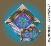 doodle bisquit cookie or... | Shutterstock . vector #1134969227