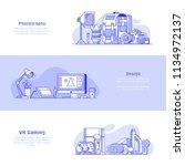 digital media professions icons ...   Shutterstock .eps vector #1134972137