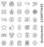 thin line vector icon set  ... | Shutterstock .eps vector #1134974435