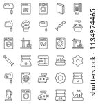 thin line vector icon set  ... | Shutterstock .eps vector #1134974465