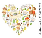 cooking class  courses for... | Shutterstock .eps vector #1134979259