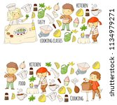 cooking class  courses for... | Shutterstock .eps vector #1134979271