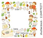 cooking class  courses for... | Shutterstock .eps vector #1134979277