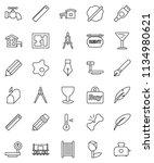 thin line vector icon set  ... | Shutterstock .eps vector #1134980621