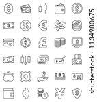 thin line vector icon set  ... | Shutterstock .eps vector #1134980675