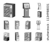 variety of terminals monochrome ... | Shutterstock . vector #1134988031