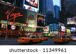 the times square in new york... | Shutterstock . vector #11349961