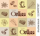 coffee background  seamless | Shutterstock .eps vector #113499787