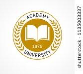 university education logo...   Shutterstock .eps vector #1135003337