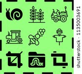 simple 9 icon set of farm... | Shutterstock .eps vector #1135003691