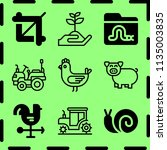 simple 9 icon set of farm... | Shutterstock .eps vector #1135003835