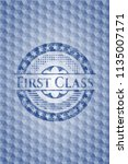 first class blue polygonal... | Shutterstock .eps vector #1135007171