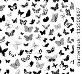 Stock vector butterfly seamless background 113500807