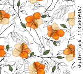 botanical motifs. isolated... | Shutterstock .eps vector #1135009067