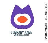 strange abstract company logo... | Shutterstock .eps vector #1135010111