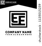 ee initial box letter logo... | Shutterstock .eps vector #1135015259