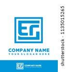 eg initial box letter logo... | Shutterstock .eps vector #1135015265