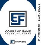 ef initial box letter logo... | Shutterstock .eps vector #1135015271