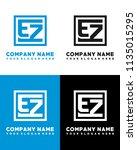 ez initial box letter logo... | Shutterstock .eps vector #1135015295