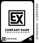 ex initial box letter logo... | Shutterstock .eps vector #1135015301