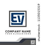 ev initial box letter logo... | Shutterstock .eps vector #1135015319