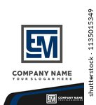 em initial box letter logo... | Shutterstock .eps vector #1135015349